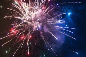 Laternenumzug und Feuerwerk ...